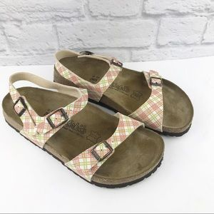 Birkis By Birkenstock Plaid Sandals♥️